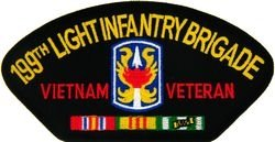 - U.S. Army 199th Light Infantry Brigade Veteran Vietnam Patch (Large)