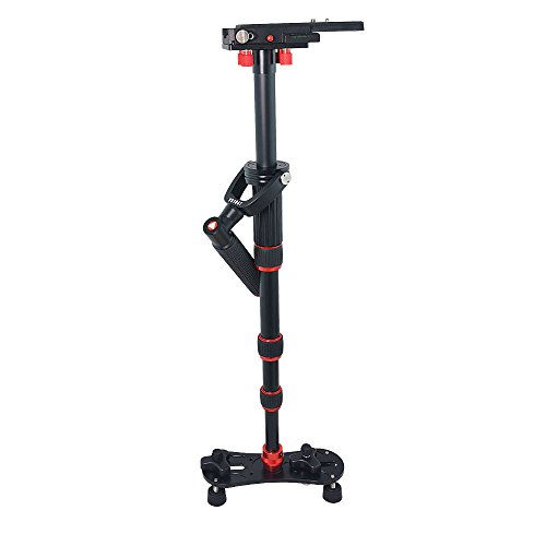 Bestshoot Kingjoy VS1047 Aluminum Alloy 43Inch Handheld Stabilizer Steadycam Monopod 3 Section Ajustable with 1/4 and 3/8 Screw for All Canon, Nikon, Sony..Sports Cameras and DV by Bestshoot (Image #1)