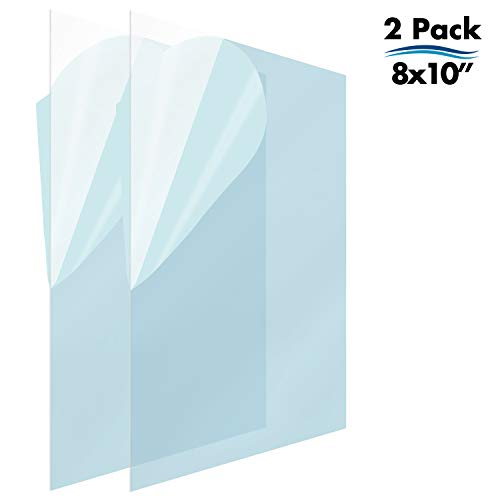 Icona Bay PET Replacement for Picture Frame Glass (8 x 10, 2 Pack) PET is Ideal Replacement Glass Material, Avoid Glass Shattering, Your Superior Replacement Picture Frame Glass Has Arrived (Extra Large Glasses Frames)