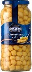 Cidacos Cooked Chick Peas Garbanzos Precocinados Glass Jar 570g Spain