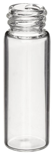 - Kimax 60810-1760 Borosilicate Glass Cylindrical 8mL Screw Thread Sample Vial, without Closure (Case of 1000)