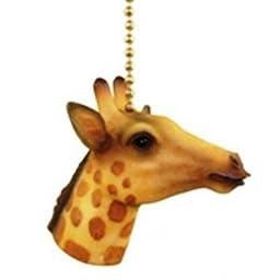 Jungle Safari Giraffe Kids Nursery Ceiling Fan Light Pull chain