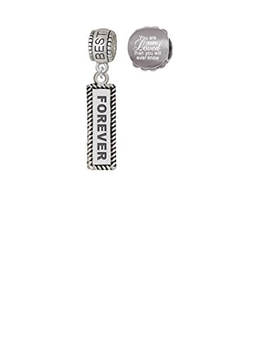 Forever Best Friend Charm Bead with You Are More Loved Bead (Set of 2) (Set Friends Bracelet 4ever)