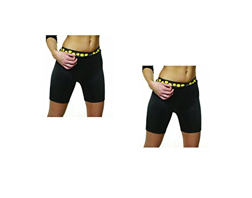 2 Pack Special! SafeTGard Womens Regular-Rise Sliding Shorts (5 Colors Available) (Black/Black, - Female Pad Groin