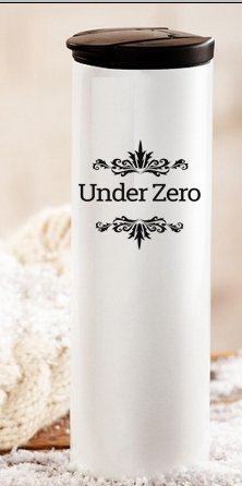 """Under Zero Tumbler   16 oz./ 500ml   Ultimate Double Wall Stainless Steel Insulated Travel/Car Mug   Leak Proof Lid   For Home, Office, School - Works Great for Ice Drink, Hot Beverages – 8.5""""x 2.5"""""""
