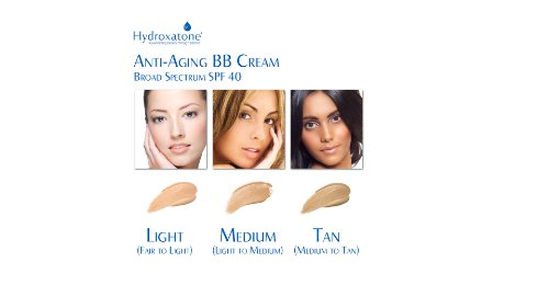 Hydroxatone Anti-Aging BB Cream Broad Spectrum SPF 40, Light 1.5oz