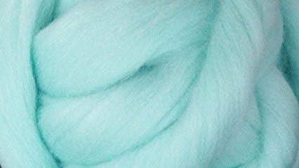 0810934ce3b24 Frozen Blue Wool Top Roving Fiber Spinning, Felting Crafts USA (4oz)