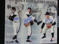 Don Larsen World Series - Signed New York's World Series Heroes (Don Larsen/Johnny Podres/Dusty Rhodes) 11x14 Photo By Don Larsen, Johnny Podres and Dusty Rhodes autographed
