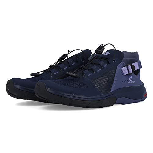 Salomon Athletic Sandals - Salomon Women's Techamphibian 4 Water Shoes, Navy Blazer/Crown Blue/Languid Lavender, 9 M US