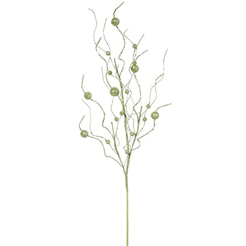 Vickerman QG164313 Glitter Ball Spray with Paper wrapped wire stem in 6/Bag, 37