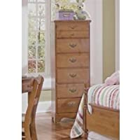Carolina Furniture Works 184600 Chest with 6 Drawer Lingerie, Traditional Cherry