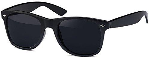 Hochwertige Polarisierte Nerd Rubber Sonnenbrille im Set (24 Modelle) Retro Vintage Unisex Brille mit Federscharnier (Leo-Brown) e0OIb