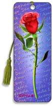 3D Bookmark Artgame Red Rose