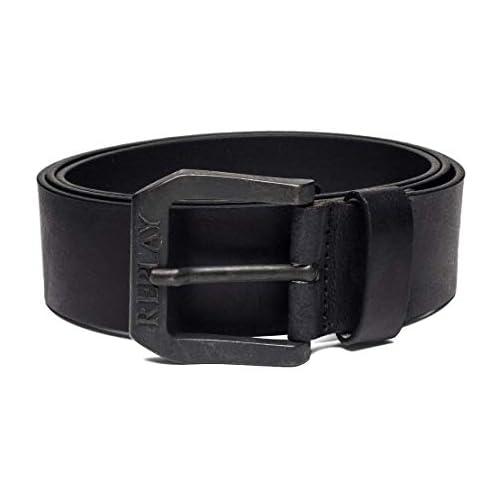 chollos oferta descuentos barato REPLAY Am2417 000 a3001 Cinturón Negro Black 98 110 Talla del fabricante 95 para Hombre