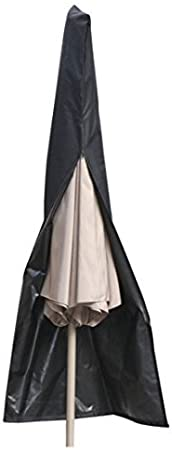 75 inch Weight 1.3 Lb JTW Black Color Patio Market Umbrella Outdoor Waterproof Canopy Cover Bags FIT 6 to 11ft in Diameter 600D Polyester/&Waterproof /&UV-Resistant /& with Easy Zipper Height