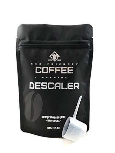 Castle Preps Eco-Friendly Coffee Machine Descaler and Cleaner for Drip, Pod, Capsule, Water Kettle and Espresso Machines, 100g (Clean Coffee Maker)