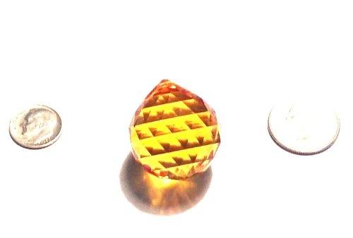 30mm Swarovski Strass Light Topaz Crystal Ball with Laser Logo Etched