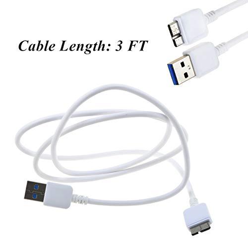 SLLEA White USB Cable for Iomega eGo 31886300 RPHD-UG3 500 GB 1 TB RPHDUG3 HDD PC Data