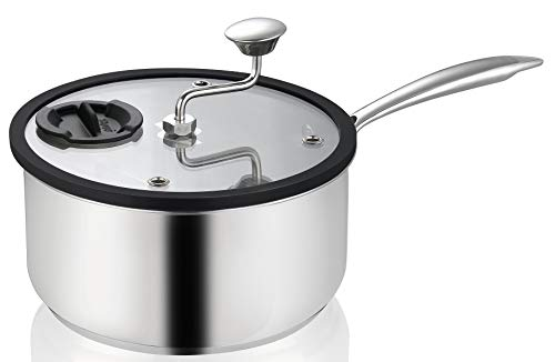 Ozeri Zippy Popcorn and Snack Maker in Nonstick Stainless Steel with Patented Mixer, 5.5 Qt ()