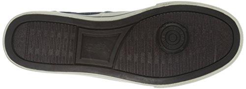 Polo Ralph Lauren Hombres Vaughn Saddle Fashion Sneaker Navy Canvas