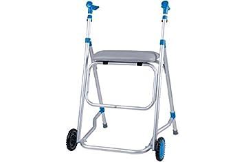 Caminador de aluminio Fly 2 con asiento: Amazon.es: Salud y ...