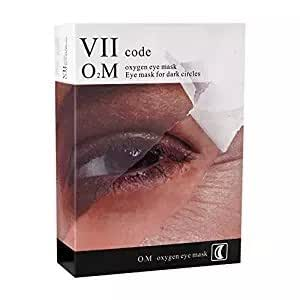 VIIcode O2M Oxygen Eye Pads for Dark Circles - Reduces Puffiness, Crow's Feet, Fine Lines and Bags - Most Effective Treatments for Dark Circle 1 Box /6 Pairs