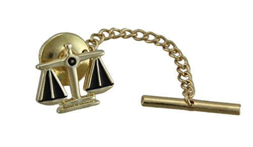 Gold Plated Scales Of Justice Tie Tack Pin Law (Justice Gold Plated)