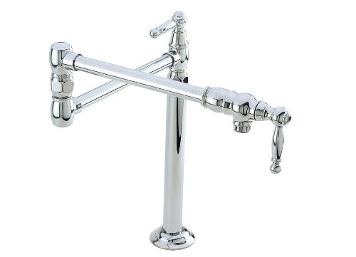 Newport Brass 9484 Double Handle Deck Mounted Pot Filler Faucet with Metal Lever, ()