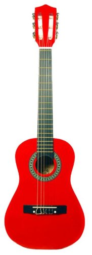 Barcelona 30-Inch 1/2-Size Nylon String Classical Acoustic Guitar - Metallic Red