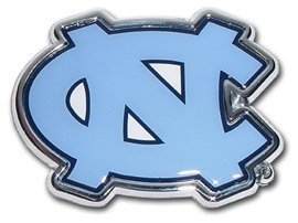 (University of North Carolina Chrome Metal Car Emblem )