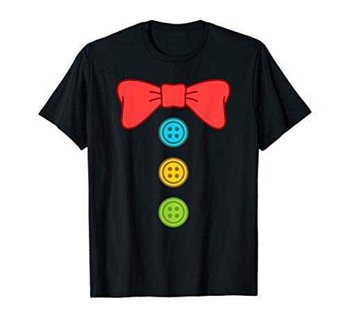 Clown Costume Suit Bow Tie Funny Halloween T-Shirt -