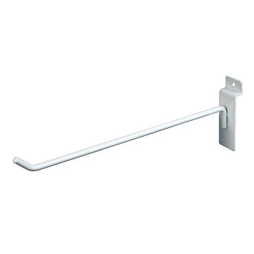 Deluxe Hooks, Slatwall hooks, Display Hooks For Panel, White (Pack of 96) ()