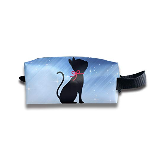 Toiletry Bag Black Cat Shaving Cosmetic Makeup Storage Travel Sundry Sewing Organizer Portable With Handle