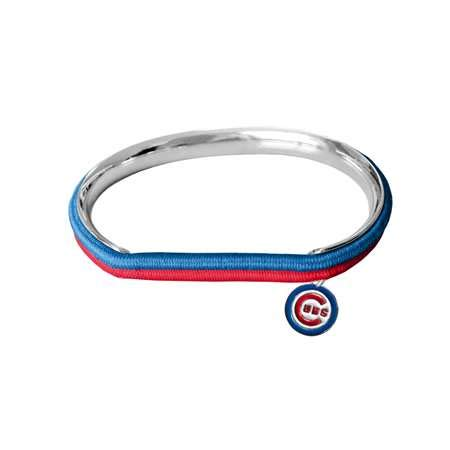 Littlearth MLB Chicago Cubs 600439-Cubshair Tie Bangle, Multicolor, One -