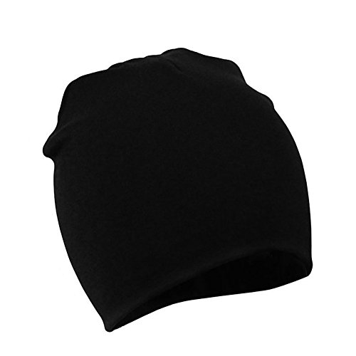 (Zando Toddler Beanies Hat Cotton Cute Soft Baby Beanie for Girl Infant Warm Comfort Knit Caps Skull Baby Hats Fall I Black Small (0-12 Months) )