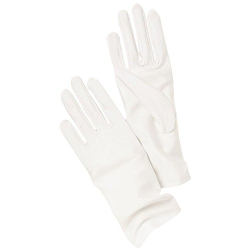 Matte Satin Wrist Length Gloves Style LEA, White from David's Bridal