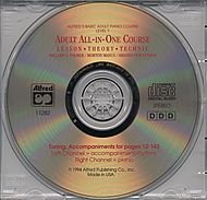 Alfred Alfred's Basic Adult All-in-One Course CD for Level 1 - Adults Cd