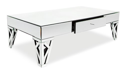 Charmant Zuri Furniture Azure Mirrored Glass Coffee Table