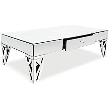 Azure Mirrored Glass Coffee Table