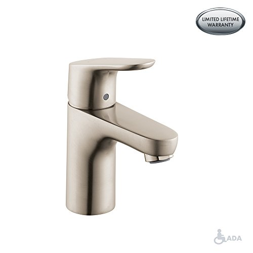 Hansgrohe 04371820 Focus E 100 Single Hole Faucet, Brushed Nickel