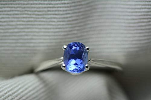 Unheated Sapphire Ring, GIA Certified, 1.05 Carats, Sri Lanka Origin, Brilliant Cut, Blue Color, Natural Genuine Ceylon ()