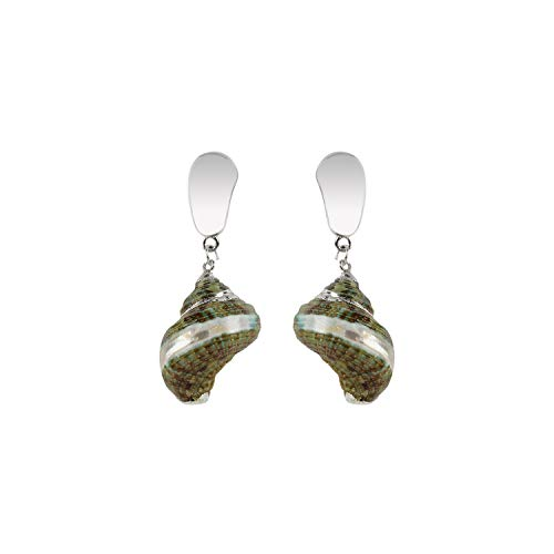 New Trendy Irregular Natural Sea Conch Drop Dangle Earring Female Shell Beach Party Jewelry,10993