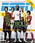 ESPN Magazine - Futbol! Luis Figo, Ruud Van Nistelrooy, DaMarcus Beasley, Adriano, Ji-Sung Park