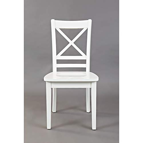 Jofran Simplicity X Back Dining Chair Paperwhite 18 W X 23 D X 38 H, Linen Finish, Set of 2