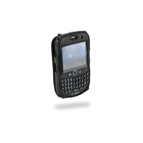 Sydney Black Leather - Sydney Harbour Genuine Black Fitted Leather Case Cover W/swivel Clip for Blackberry 8500 8520 8530