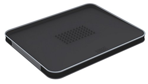Joseph Joseph 60002 Cut & Carve Multi-Function Cutting Board, Large, Black