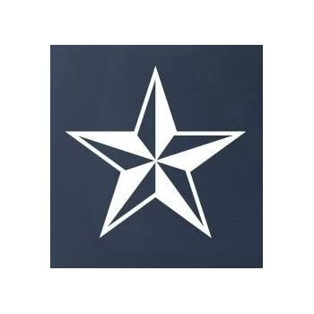 Nautical star car truck notebook vinyl decal sticker 1112 vinyl