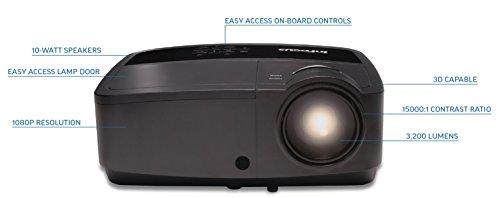 InFocus IN119HDx 1080p DLP Business Projector, HDMI, 3200 Lumens, 15000:1 Contrast Ratio