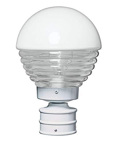 - Besa Lighting 306153-POST 1X75W A19 Costaluz 3061 Series Post Mount Lighting Fixture, White Finish