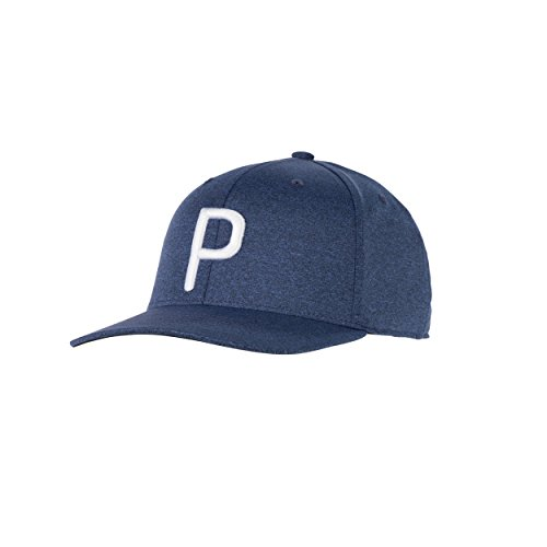"Puma Golf 2018 ""P"" Snapback Hat (Peacoat Heather, One Size) Rickie Fowler P Hat"